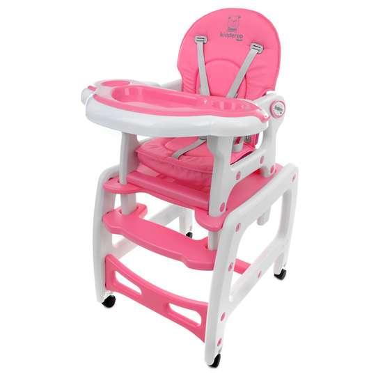 Super Kindereo 5w1 różowe krzesełko do karmienia - Sklep Internetowy dla KM77