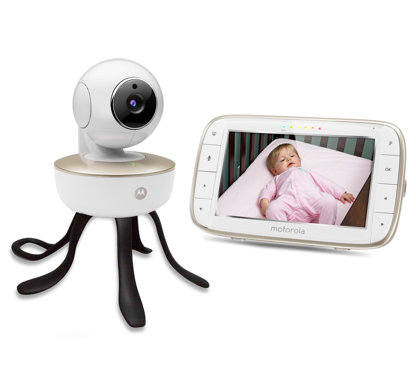 Motorola Mbp88Connect Portable Wi-Fi Video Baby Camera With Remote Pan Tilt,...