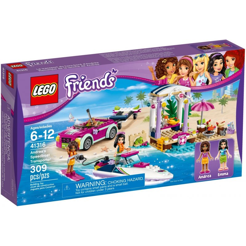 Klocki Lego Friends 41316 Transporter Motorówek Andrei Sklep