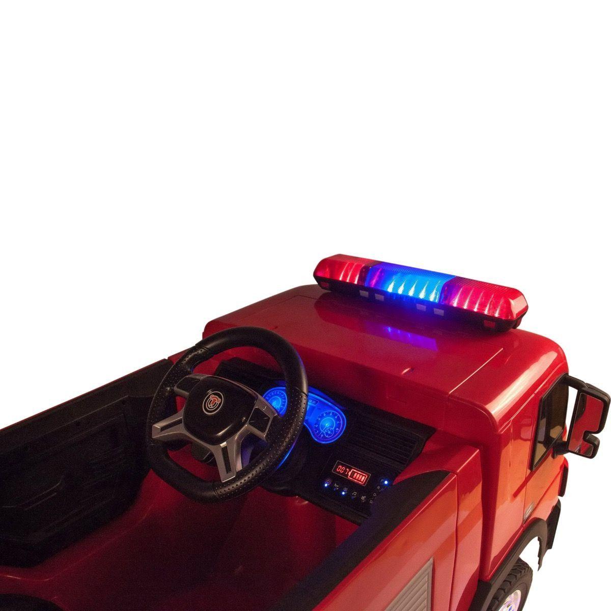 Wóz straży pożarnej Samochód na akumulator + Akcesoria Strażackie